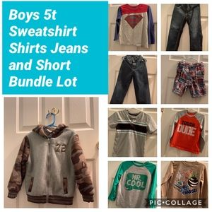 Boys 5t Sweatshirt Shirts Jeans and Short Bundle